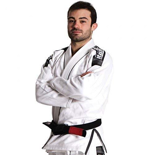Kimono Tatami Nova+ Plus BJJ Gi blanco Jiu Jitsu uniforme – Cinturón blanco gratis, color blanco, tamaño A1