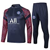 ZH~K Traje entrenamiento de fútbol Club de Adultos Jóvenes camiseta de manga larga y pantalones de jogging BreathableTop juego del ocio al aire libre Q670003 Hombre Sudaderas