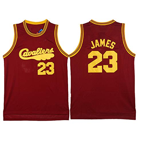 XZDM Camiseta De Baloncesto Cleveland Cavaliers, Uniforme De Baloncesto Lebron James # 23 para Hombre, Chaleco Deportivo Juvenil Sin Mangas Bordado, Camiseta Deportiva Pa Red-M