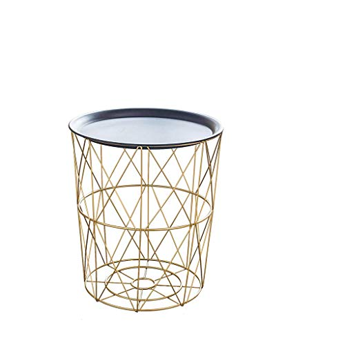 Table d'appoint Table de chevet moderne petite table à manger moderne (Color : Black+Gold, Size : M)