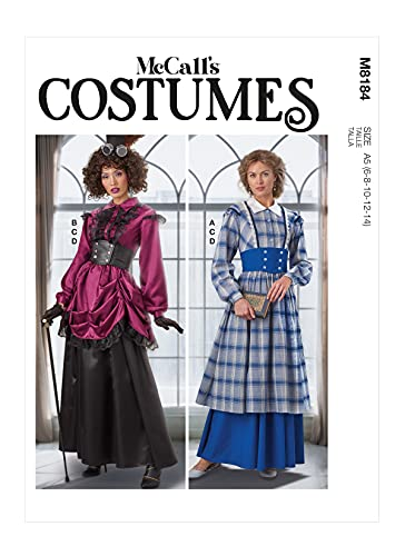 McCall's Sew Pattern M8184A5 A5 (6-8-10-12-14) -Patrn de Costura para Disfraz de Mujer, Multicolor