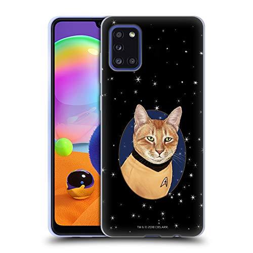 Head Case Designs Schutzhülle für Samsung Galaxy A31 (2020), Motiv 'Star Trek Captain Kirk', weiches Gel, kompatibel mit Samsung Galaxy A31 (2020)