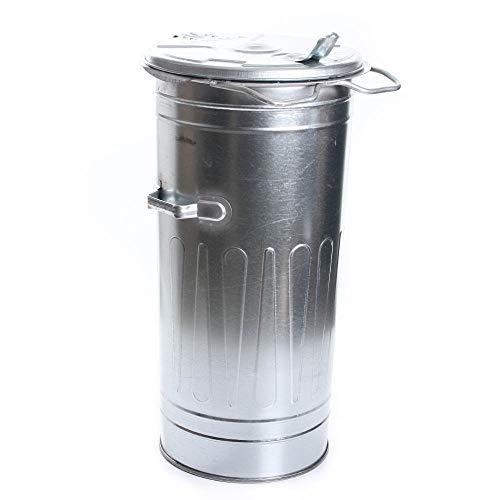 rg-vertrieb Mülltonne Müllbehälter Verzinkt 110L mit Deckel Behälter Abfalltonne Müllgroßbehälter Stahlblech Metallbehälter