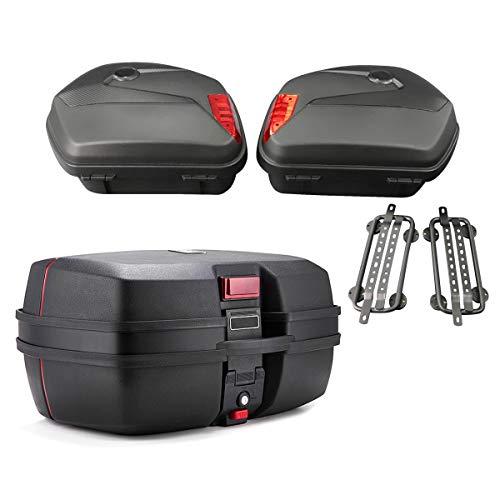 Maletas Laterales + baul para Honda CBR 500 R / 600 F SCT8 Negro