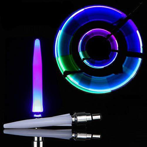 WMMDM LED Bicicleta de válvula del neumático luz del vástago - Bicicleta Impermeable Ilumina la Rueda de neón Parpadeante lámpara Brillan en la Oscuridad Accesorios Segura
