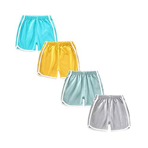 sharely sheep SharelySheep Baby Boys Elastic Waist Dinosaur Cotton Shorts Toddler Kids Pants, T10, 12 Months