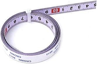 Vogueing Tool - Cinta métrica autoadhesivo para sierra ingletadora (0 a 1 m, acero inoxidable), color blanco