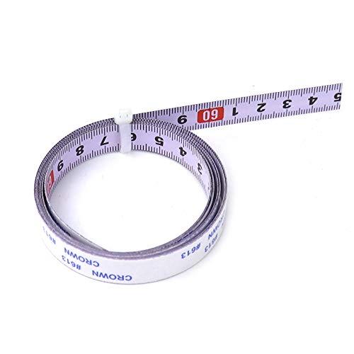 Vogueing Tool - Cinta métrica de acero inoxidable para sierra ingletadora (0-10 m), color blanco