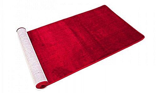Commercial Grade Floor Mat Indoor Outdoor Entrance Carpet Door Mats Dark Red (3x8)