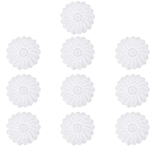 DyNamic 10 Stks/Set Hand Gehaakte Kleedjes Katoen Geweven Ronde Cup Schotel Tafel Tafelkleed Placemat Decoraties