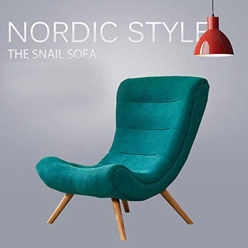 Renovering Husstol Nordic snigelstol ljus lyx vardagsrum lounge stol sovrum balkong lat vilstol enda hög rygg soffa soffa A7
