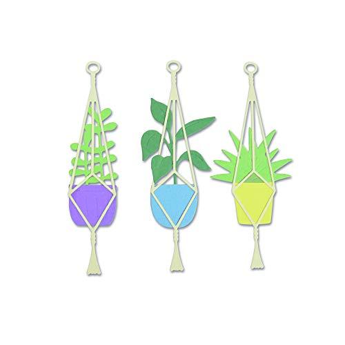 Sizzix 663321 Hängendes Pflanzengefäß Stanzschablonen, Mehrfarben, Einheitsgröße