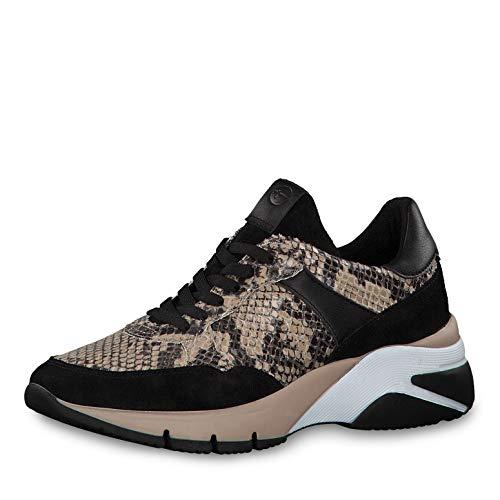 Tamaris Donna Scarpe Stringate Basse 23782-33, Signora Scarpe da Strada,Sneaker,Scarpe Stringate,Sportivo,Elegante,Casuale,Beige Comb,39 EU / 5.5 UK