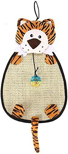 Juguetes for mascotas gato sisal Rascarse las Pastillas de bola de Bell animal de la historieta del rasguño Mat resistente for Kitten Ejercicio Mono A, Color: Ratón-c JXNB ( Color : Tiger-b )