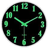 Luminoso Orologio da Parete, 30cm Orologio da Parete Moderno, Orologio Parete Cucina, Vintage Orologio da Parete Grande, Orologio da Muro al Quarzo con Movimento Silenzioso Sweep