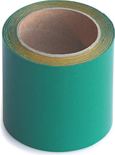 Wupsi Cinta de Reparación de PVC - para Lonas, Cubierta de Remolque, Invernadero, Toldo, Carpa, Tienda Campaña y Persianas - Verde, 10 cm X 5 m