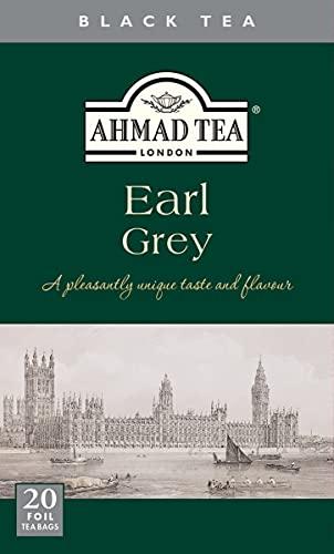Ahmad Tea Schwarztee- Mischung mit Bergamotte, Earl Grey, 2 g (20 Teebeutel)