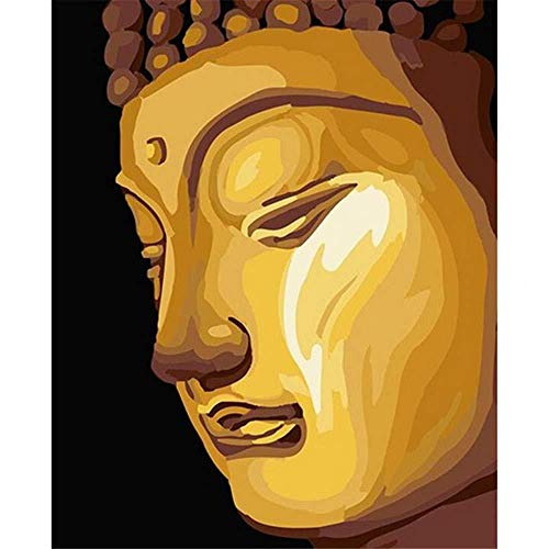 Malen nach Zahlen Golden Buddha Zeichnung Malvorlagen Moderne DIY Kits Artwork Home Einzigartige Dekoration Geschenk Rahmenlos 40X50Cm