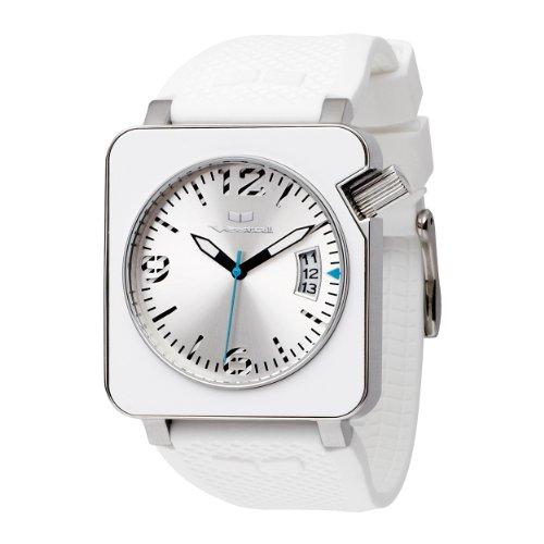Vestal CHR003 - Reloj Unisex de Cuarzo, Correa de Textil Color Blanco