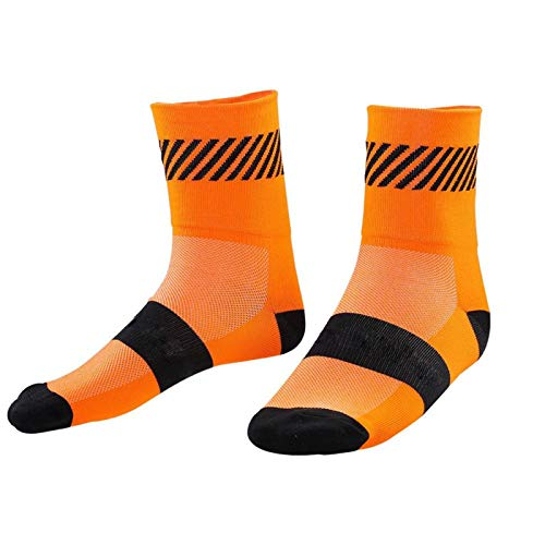 DAUERHAFT 1 Pair Athletic Socks,Breathable,Stretchable Sports Socks,with Thickened Socks Mouth,Anti-slip Design,Athletic Ankle Socks,for Sports,Foot Pressure Relief(Large-Orange)