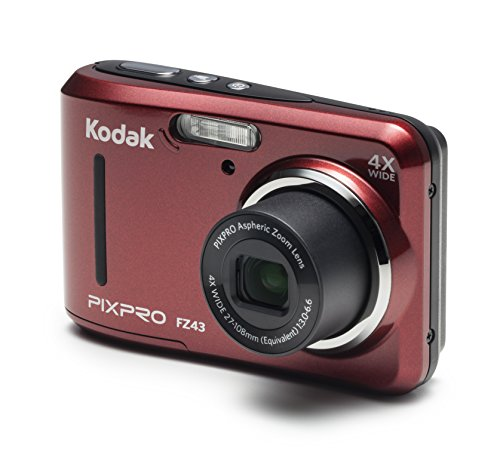Kodak PIXPRO Friendly Zoom FZ43-RD 16MP Digital Camera with 4X Optical Zoom and 2.7