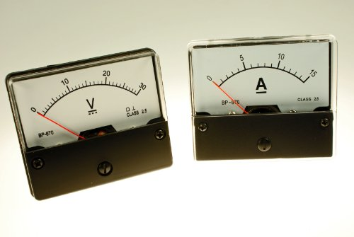 30V Voltmeter 15A Amperemeter DC analog Set Meßgeräte Einbaumeßgeräte