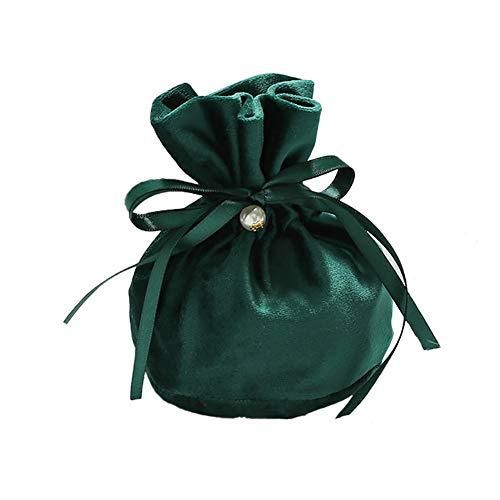 Wilany 1 bolsa de terciopelo con cordón con bolsa de regalo de perlas, bolsas de joyería para embalaje de regalo de joyería, bolsas de tela de terciopelo para joyas, regalo de boda, paño de franela