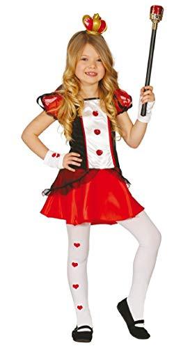Fancy Me Mädchen Königin der Herzen Alice Im Wunderland Büchertag Kostüm Kleid Outfit 3-9 Jahre - Rot/schwarz, 10-12 Years