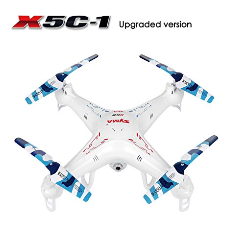 SZJJX RC Quadcopter, Upgraded X5C-1 Syma Explorer 2.4GHz 6 Axis Gyro 4CH RC Drone with 2 Megapixels Camera