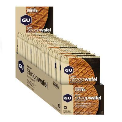 GU - 769493101594/432 : Galleta gofre energetico Caramelo Cafe GU Waffle 16U