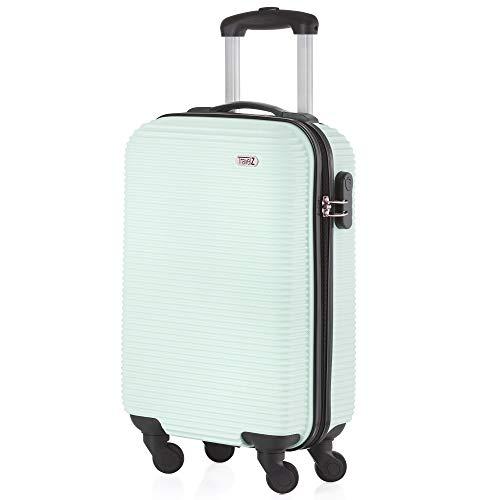 Handgepäck/Koffer/Trolley ABS-Hartschale in mintgrün 54 x 34 x 20 cm