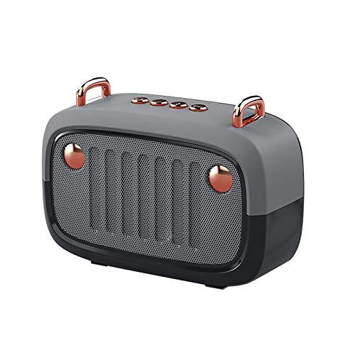 Altavoz portátil inalámbrico Bluetooth 5.0 Mini Cartoon con radio FM, conversación portátil con sonido dementible (D)