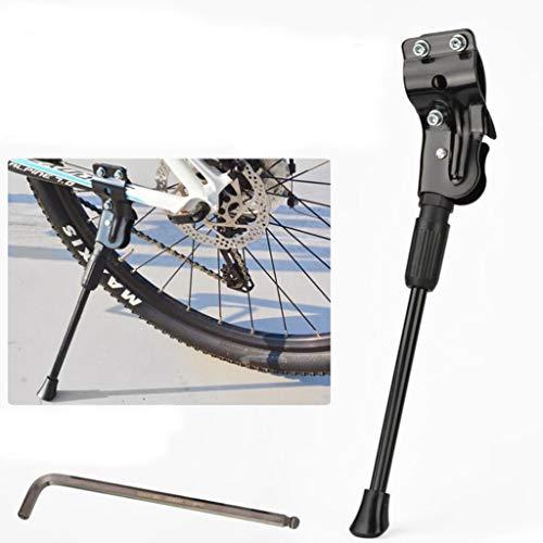 Fiets Kickstand, Aluminium MTB-fietsstandaard met anti-slip rubberen voet, universele legering kickstandaard voor mountainbike, racefiets en vouwfiets 26