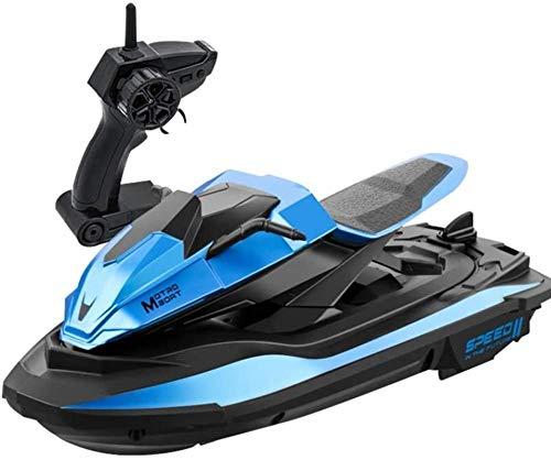 Regalo Moto acuática de alta velocidad Control remoto eléctrico Barco de velocidad de 4 canales Recargable Radio de 2,4 G RC Juguetes anticolisión Barco de velocidad Modelo 1/14 Barco de motor para pi