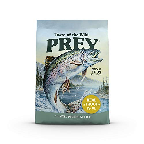 Taste of the Wild Prey Real Meat High Protein Trout Limited Ingredient Dry Dog Food Grain-Free Recipe Made with Real Spring-Fed Trout, and Includes Probiotics for All Life Stages 25 lb