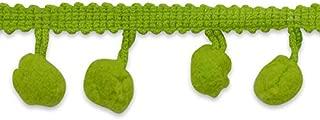 Expo International 3/4-Inch Pom Fringe Trim Embellishment, 20-Yard, Lime