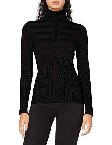 Morgan Pull Manche Longue Col Roulé Lurex Mentosa Suéter para Mujer