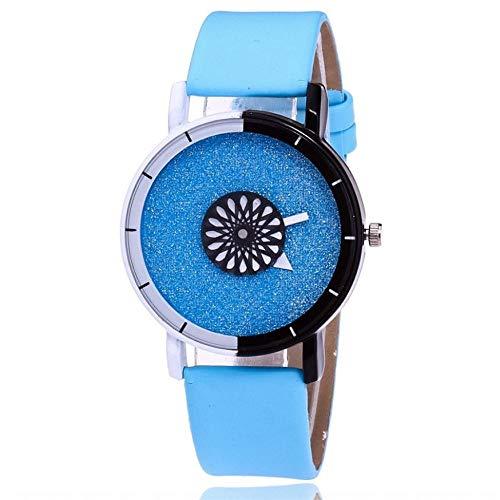 JZDH Relojes para Mujer Moda Marca Relojes de Mujer Trenzado Hecho a Mano Reloj de Pulsera Señoras Cuarzo Hombre Reloj Reloj Relojes Decorativos Casuales para Niñas Damas (Color : Blue)