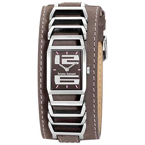 Bruno Banani BR21051Damen Armbanduhr, Lederband braun