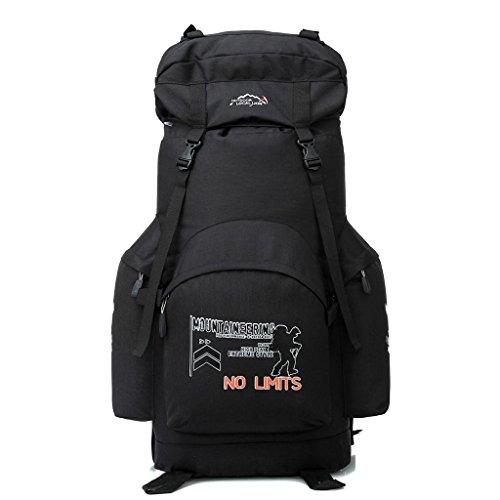 Local Lion borsone zaino unisex da spalla sportivo outdoor montagna campeggio escursionismo viaggio 70L nero