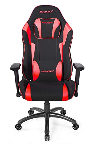AKRacing Core Series EX-Wide SE Ergonomic Red Gaming Chair with Wide Seat, 330 Lbs Weight Limit, Rocker and Seat Height Adjustment Mechanisms with 5/10 Warranty