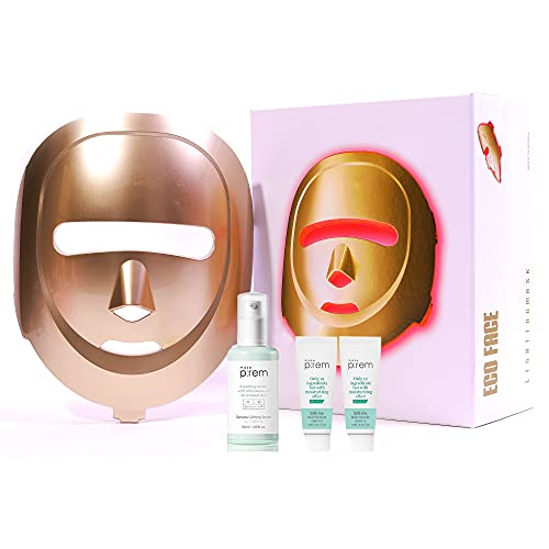 ECO FACE Near-infrared LED Mask for Home Facial LED Therapy with Serum - LED Mask Therapy Photon Mask - Facial Skin Care Mask Treatment LED Mask