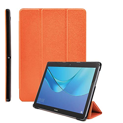 """COOVY® Custodia ultra magro per Huawei MediaPad T3 10 (9.6"""") Cover con Funzione di Supporto I arancio"""