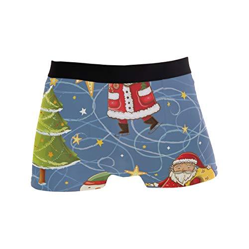 FANTAZIO mannen Boxer korte kerst kerstman Sneeuwman sterren mannen ondergoed