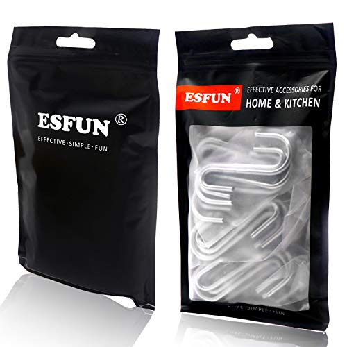 30 Pack Esfun Heavy Duty S Hooks Pan Pot Holder Rack Hooks Hanging Hangers S Shaped Hooks for Kitchenware Pots Utensils Clothes Bags Towels Plants