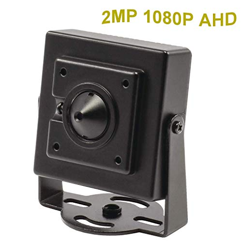 cndst CCTV Sony 1080P HD AHD Mini Spy estenopeica 2000tvl Vivienda 2MP 3,6mm 90grados, Mini Ocultos Vivienda