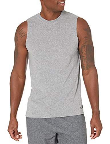 Russell Athletic Men's Cotton Performance Sleeveless Muscle T-shirt,Oxford,XXX-Large