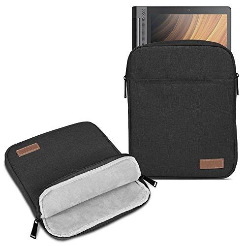 UC-Express Tablet Tasche kompatibel für Lenovo Miix 320 310 300 Hülle Schutzhülle Schwarz/Grau Cover Case, Farbe:Schwarz