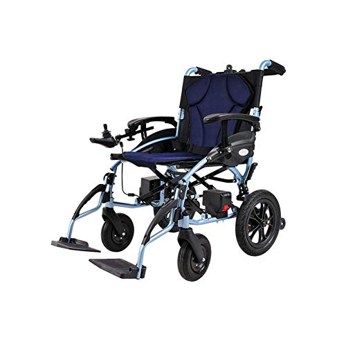 FTFTO Home Accessories Elderly Disabled Electric Powered Wheelchair Folding 26Kg(20Km Range) 360 deg Joystick Weight Capacity 100Kg Seat Width 46Cm Lithium Battery Singlecontrol