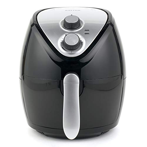 Salter EK2818 3.2 Litre Hot Air Fryer, Cook with Less Oil, 1300 W, 30-Minute Timer, Adjustable Temperature Control, Ideal for Smaller Households or Students, Black